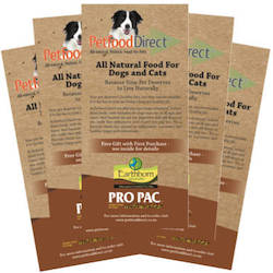 Brochures & Vouchers: Petfood Direct Brochures (Free)